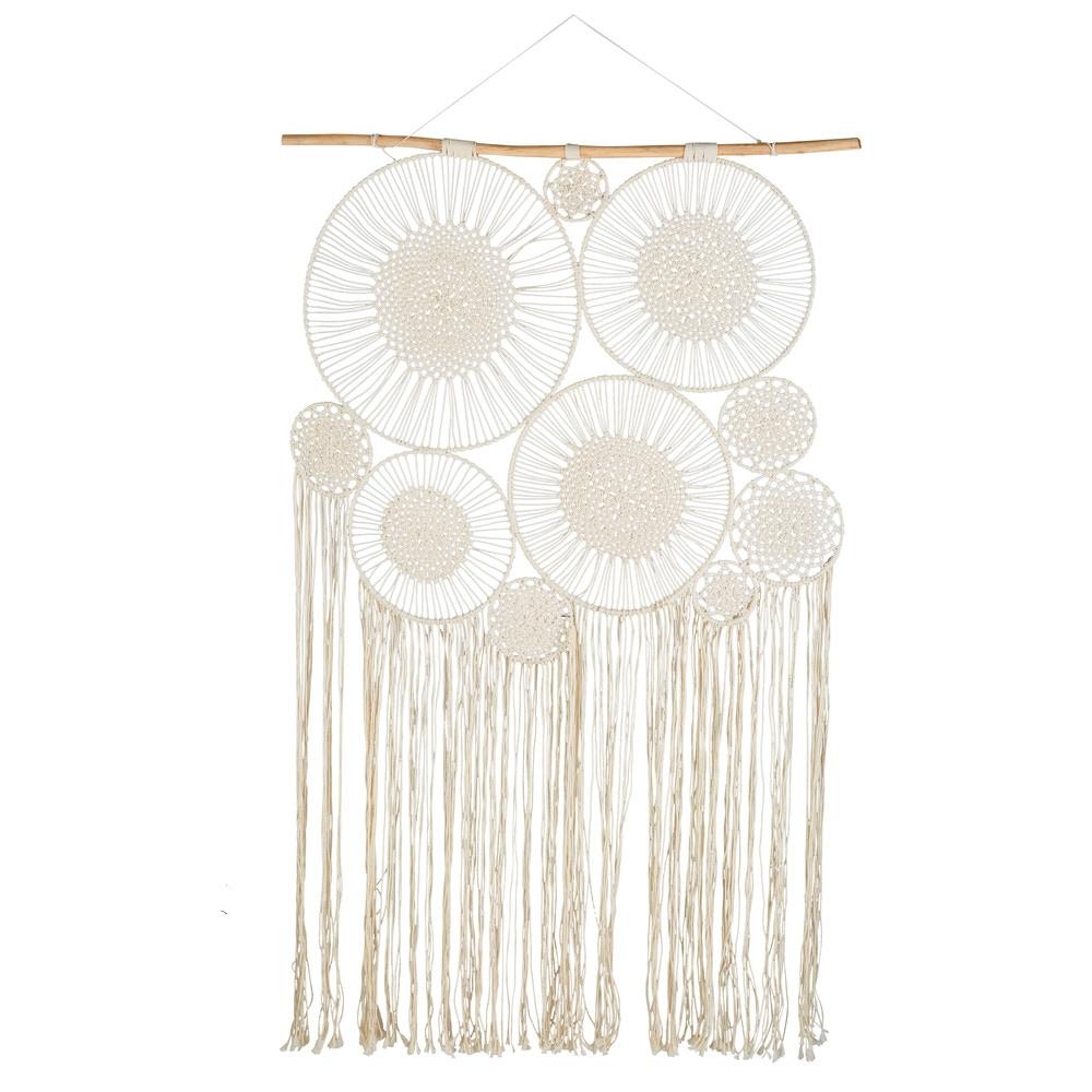 10 attrape-rêves à suspendre en coton blanc 120x217