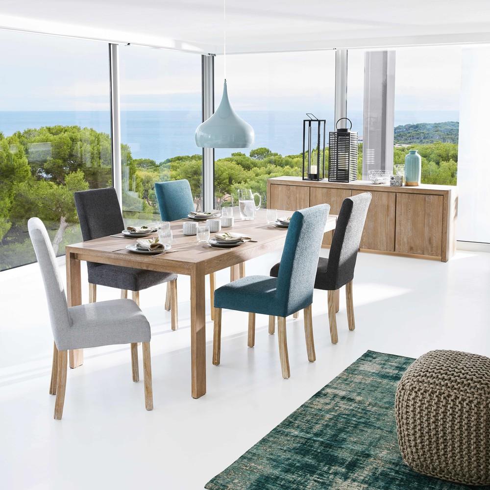2 chaises à housser en pin blanchi