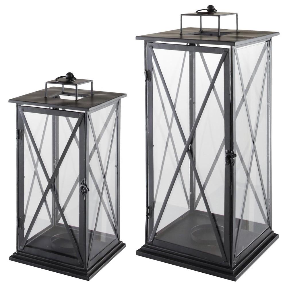 2 lanternes en métal