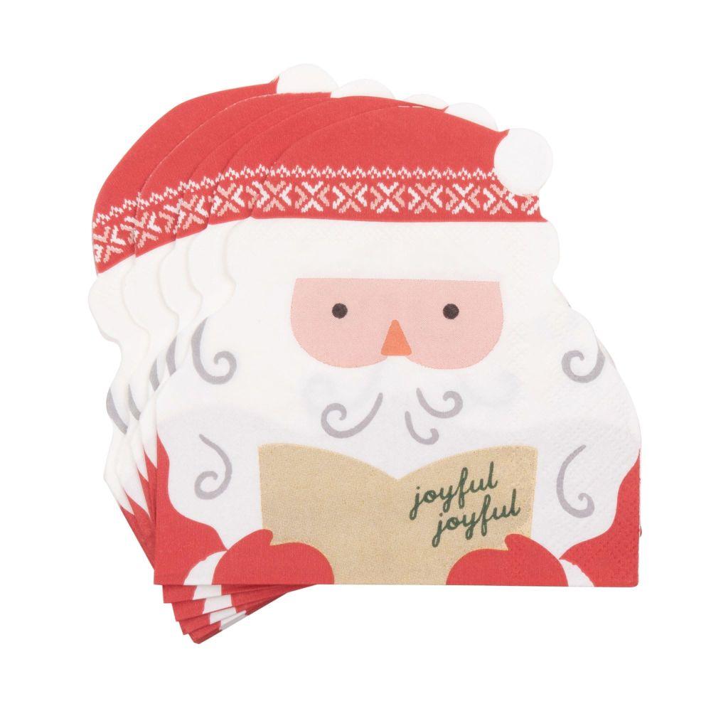 20 serviettes Père Noël en papier