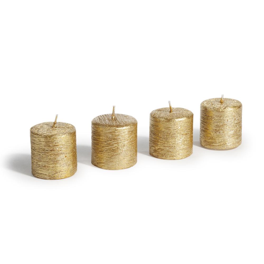 4 bougies dorées