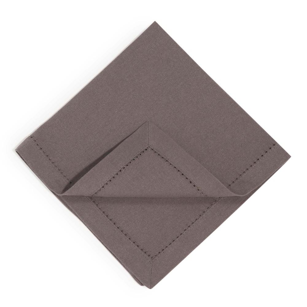 4 serviettes en coton anthracite 40 x 40 cm