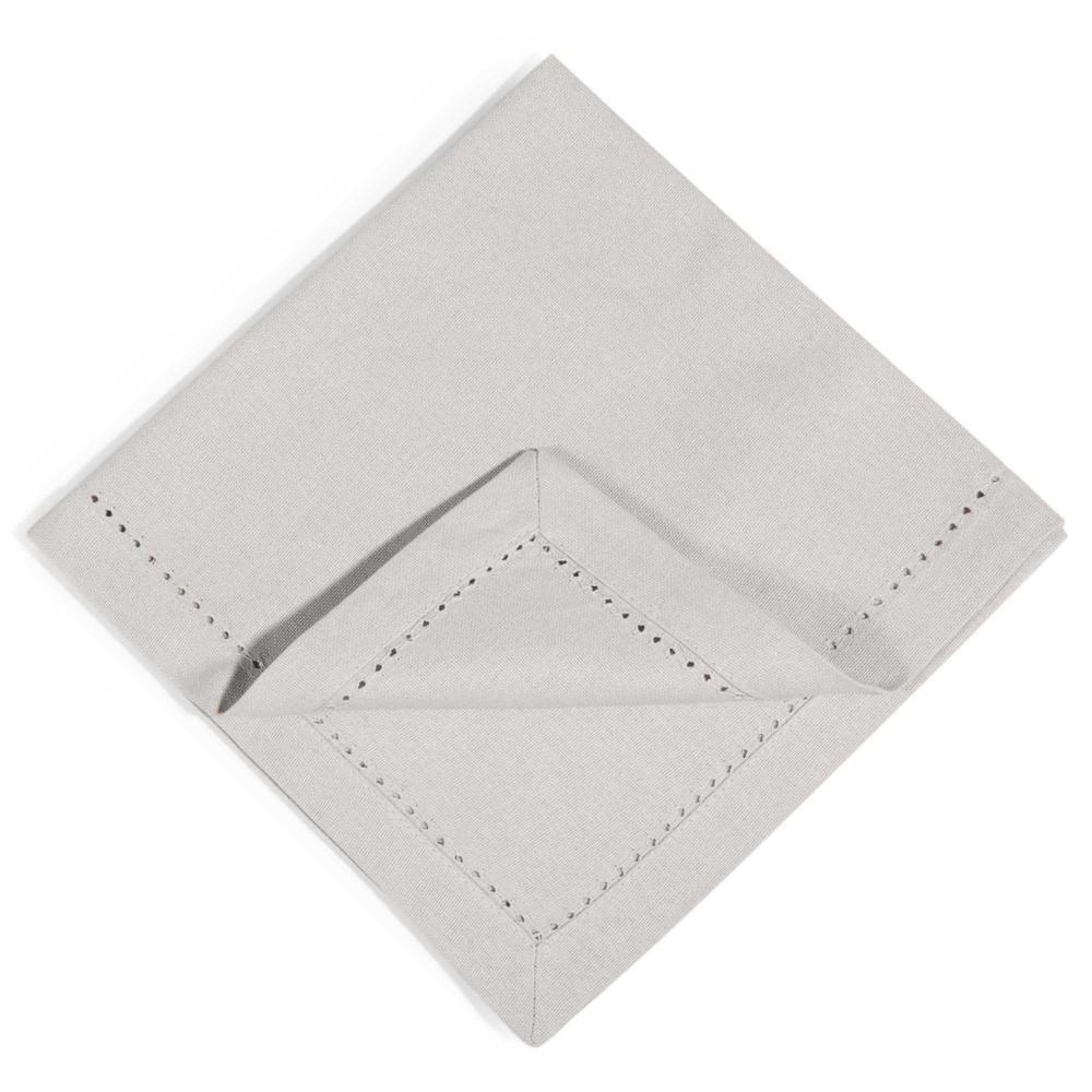 4 serviettes en coton gris 40x40cm