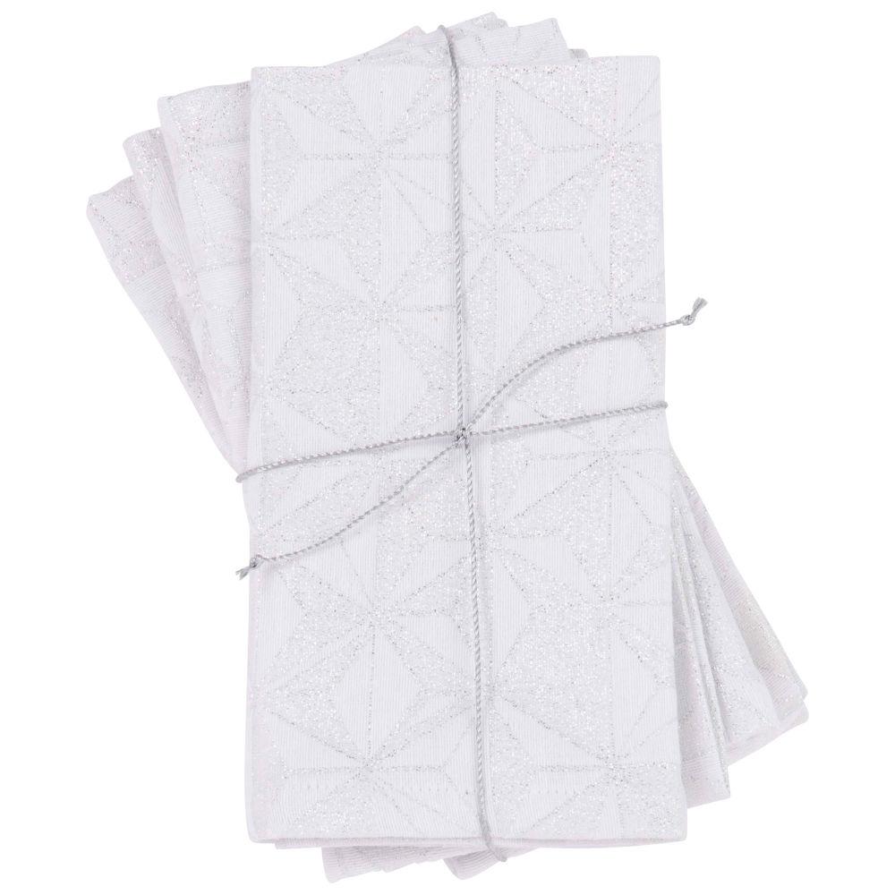 4 serviettes jacquard