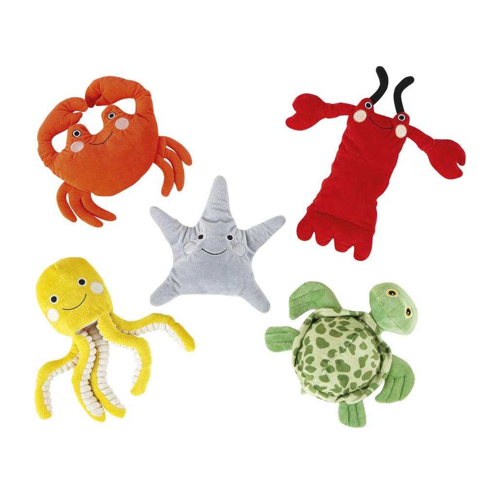 5 marionnettes animaux de mer