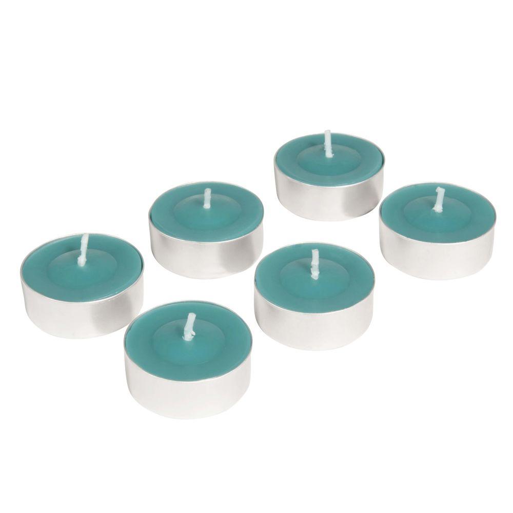 6 bougies coupe bleues D 12 cm