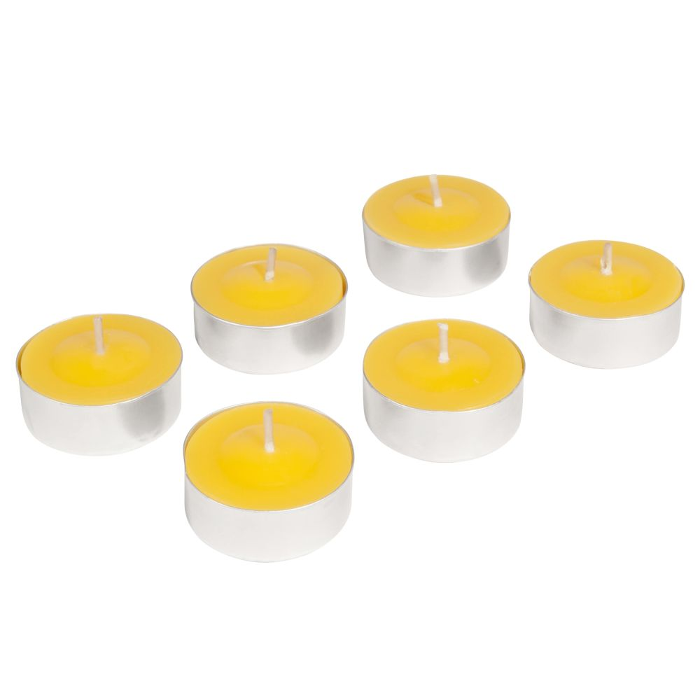 6 bougies coupe jaune D 12 cm