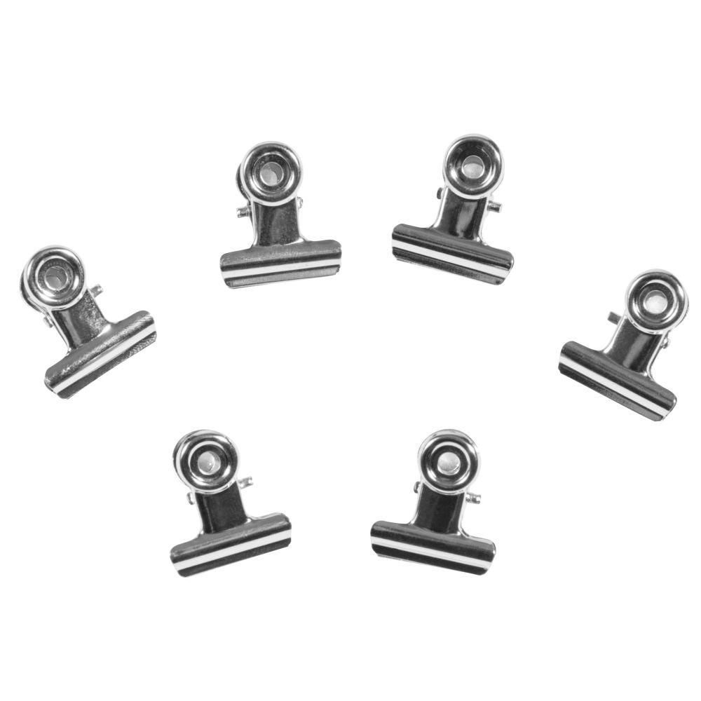 6 pinces clip magnétiques en métal