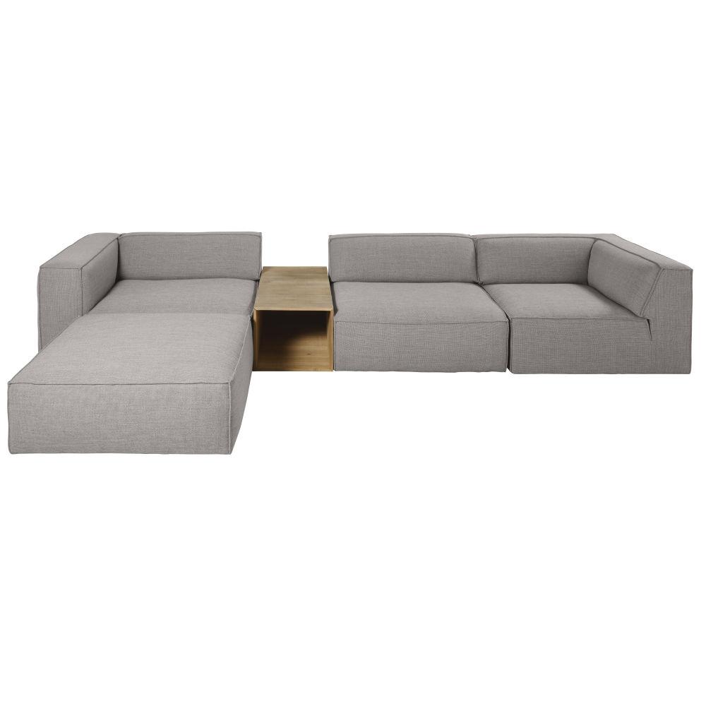 Accoudoir d'angle gauche pour canapé gris