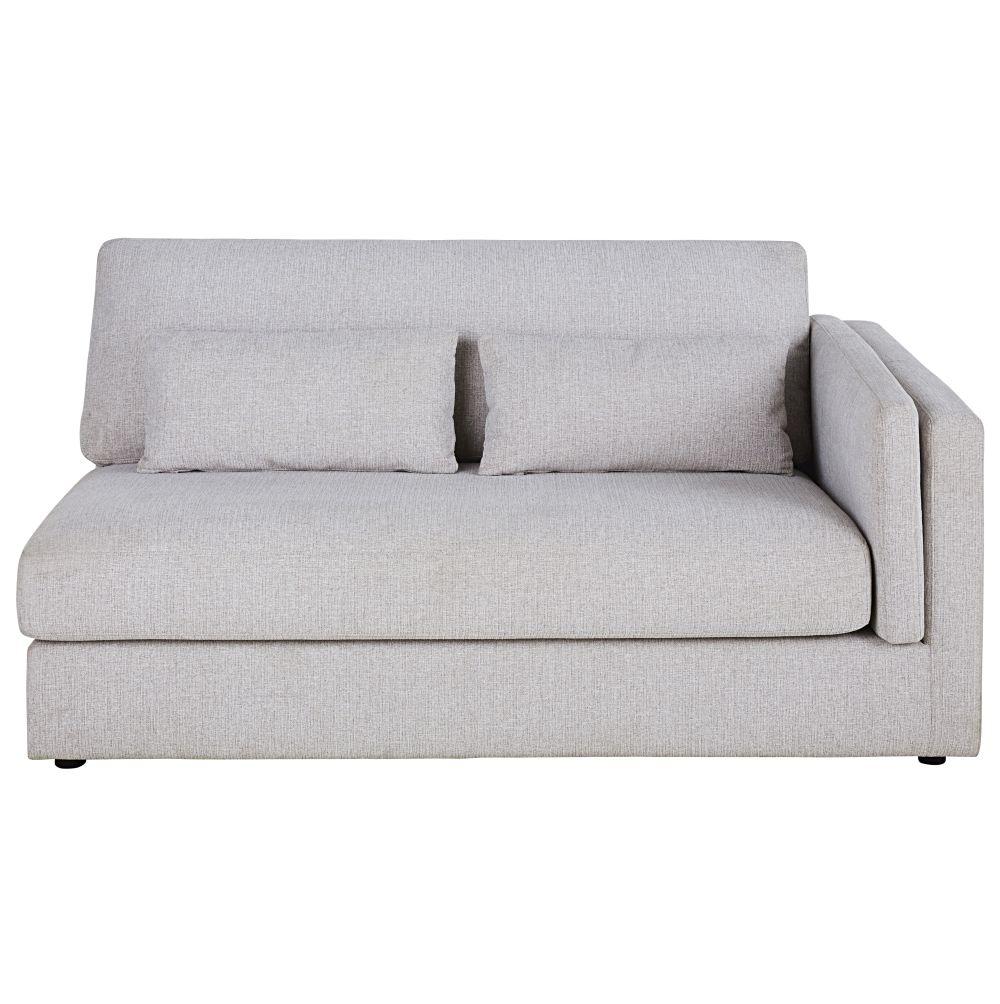 Accoudoir droit pour canapé modulable 2 places beige