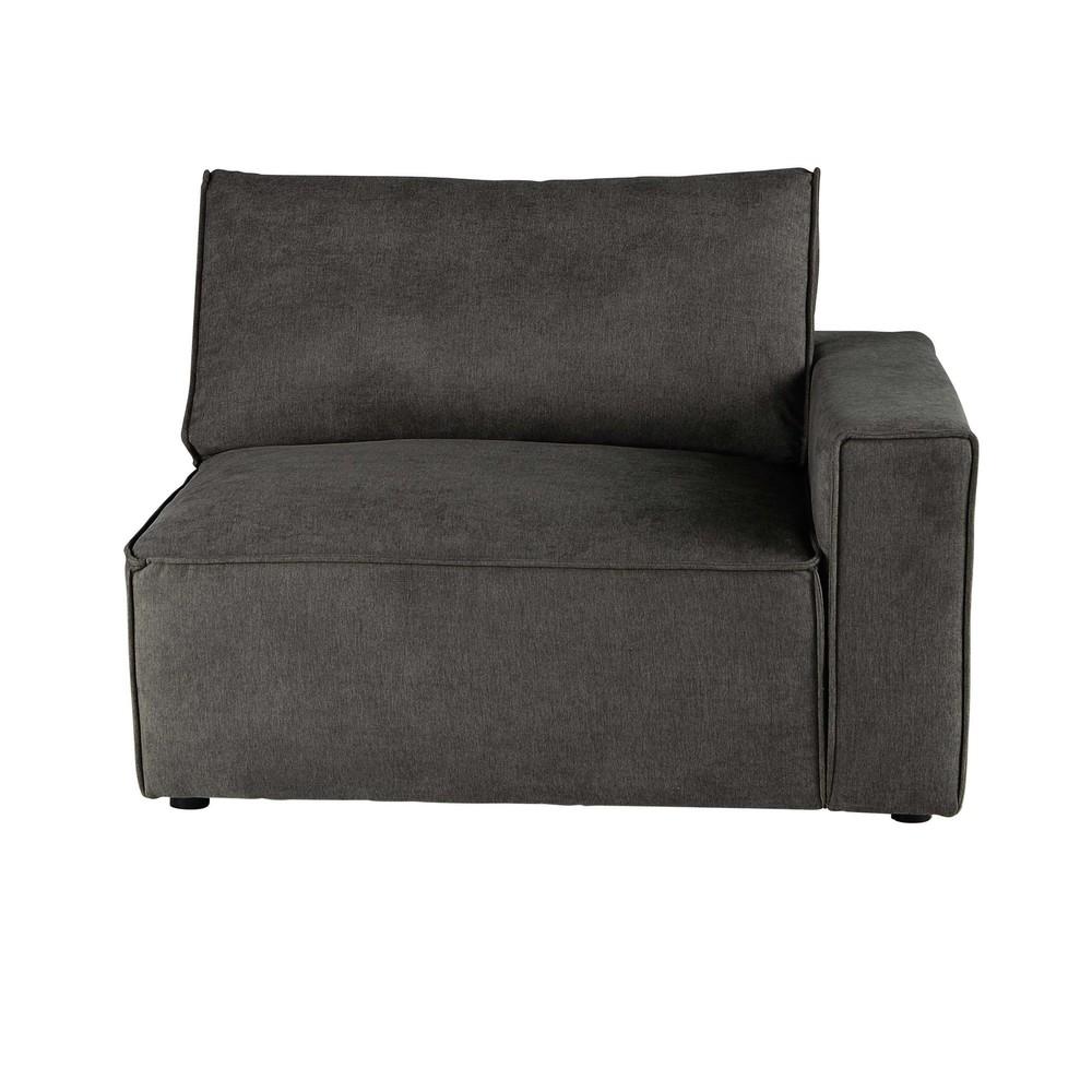 Accoudoir droit pour canapé modulable taupe grisé