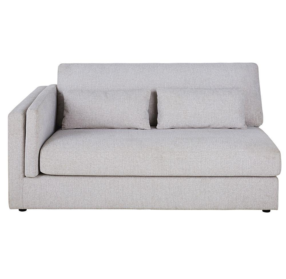 Accoudoir gauche pour canapé modulable 2 places beige
