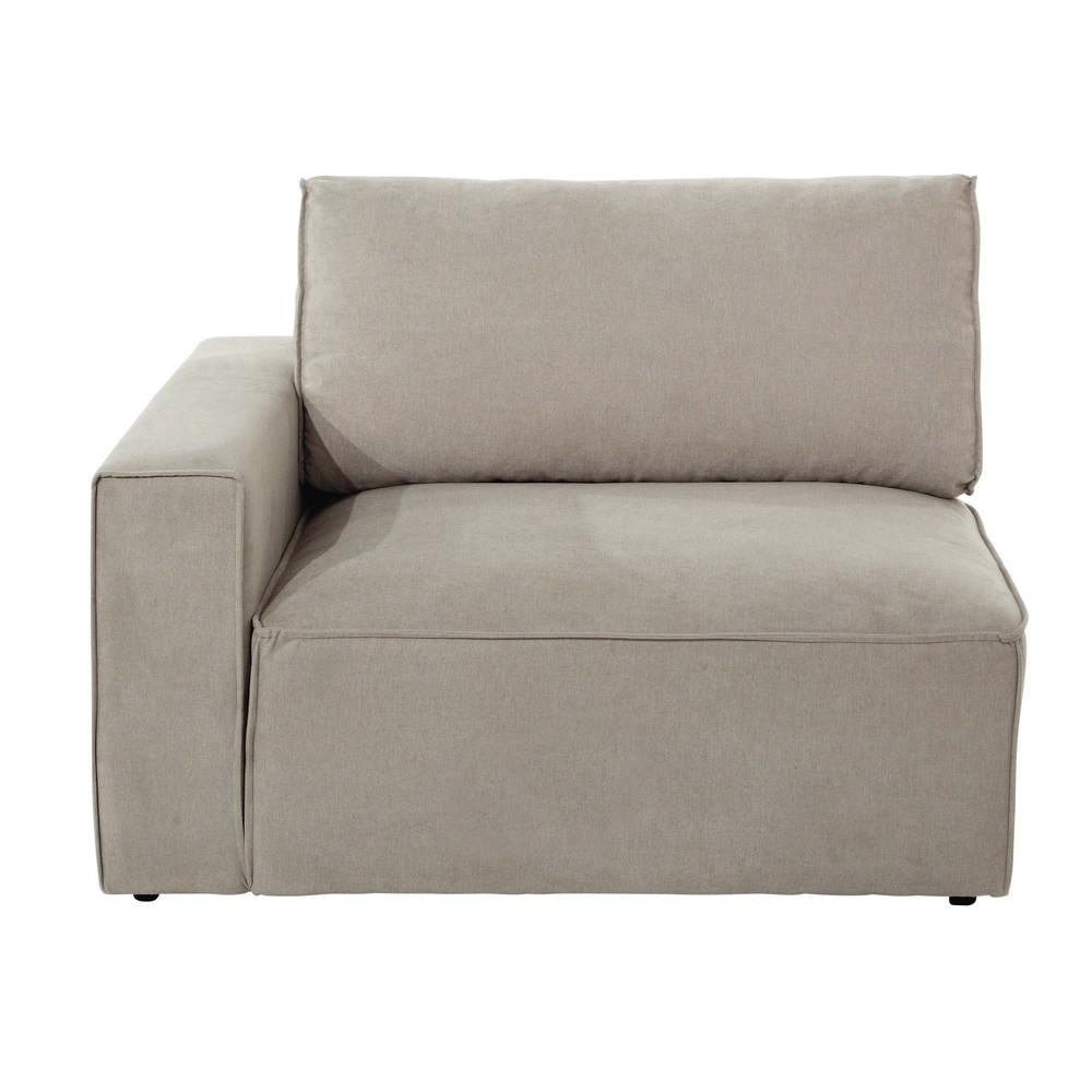 Accoudoir gauche pour canapé modulable beige