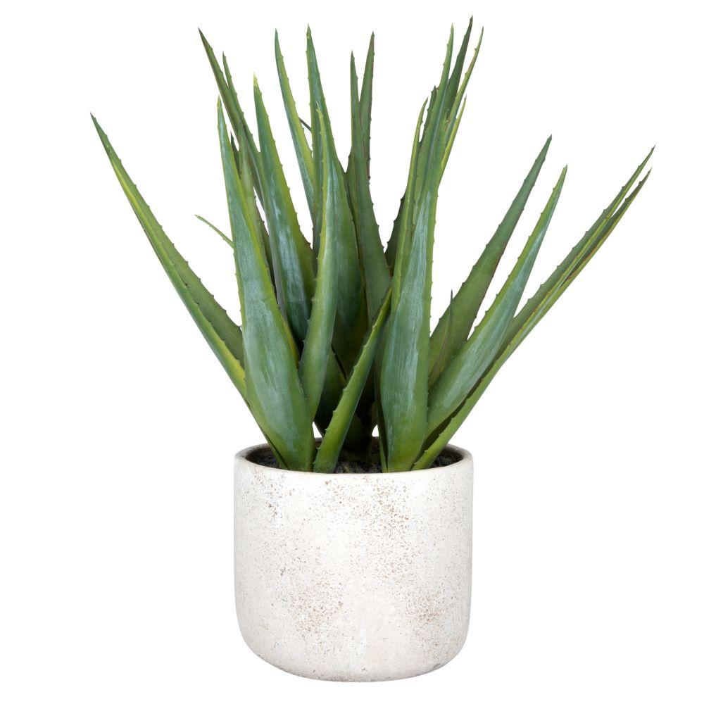 Aloe artificiel en pot