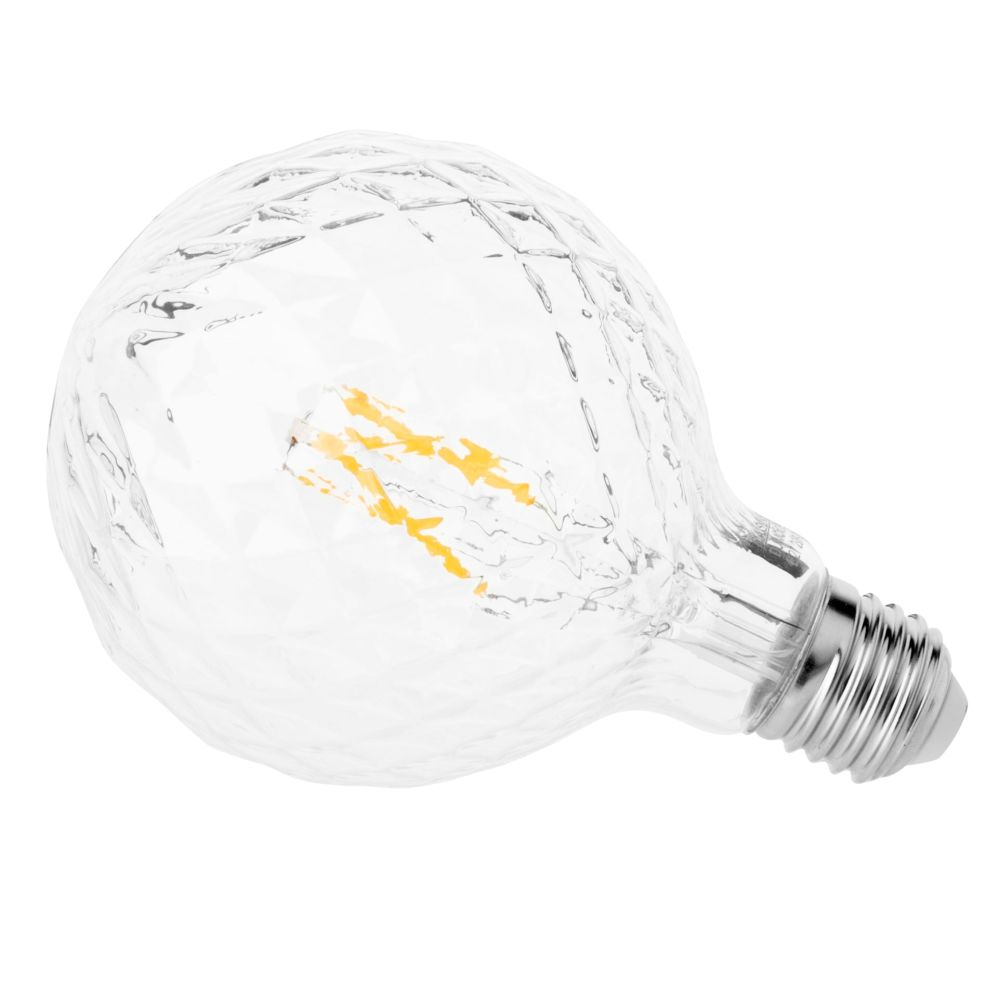 Ampoule LED en verre à reliefs