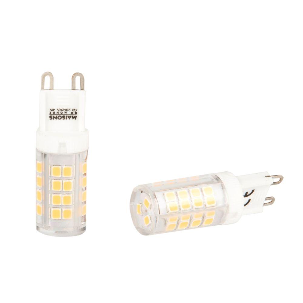 Ampoules en verre culot G9 (x2)
