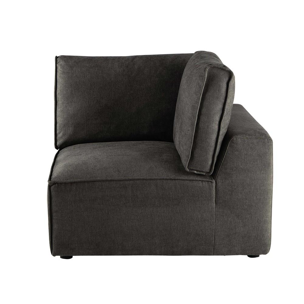 Angle pour canapé modulable taupe grisé (photo)