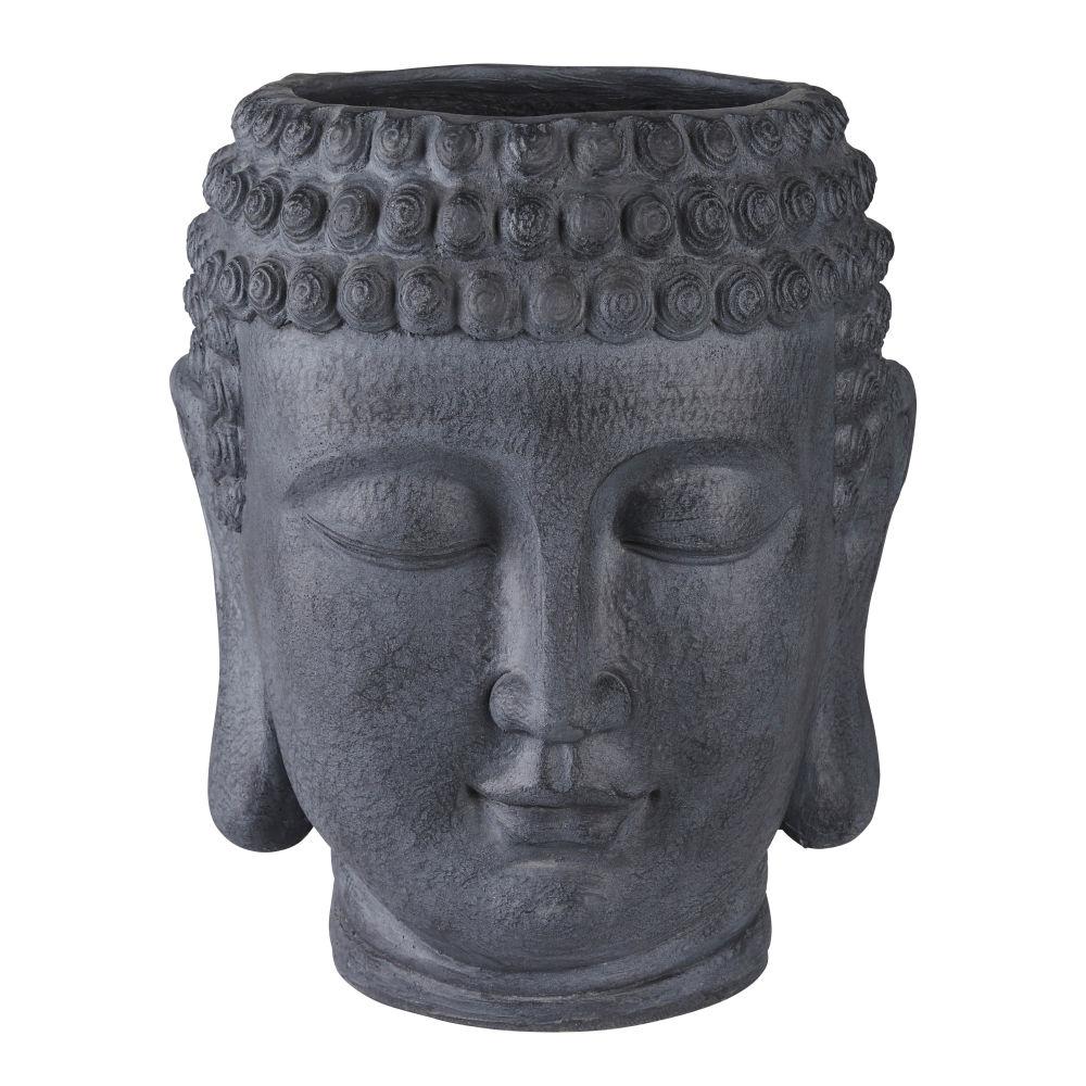 Antraciete Boeddha Bloempot Van Cement H52