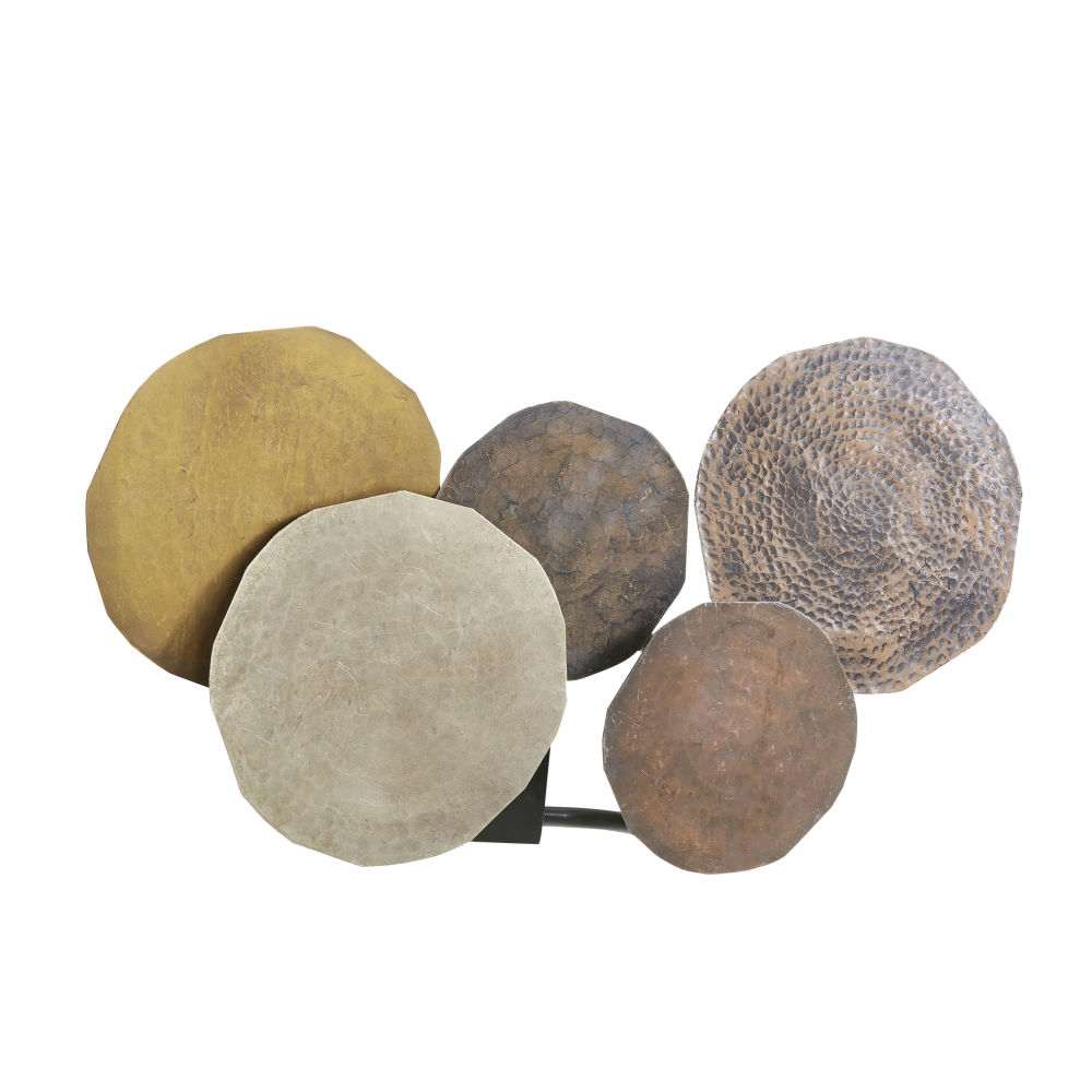 Applique disques de métal coloris bronze