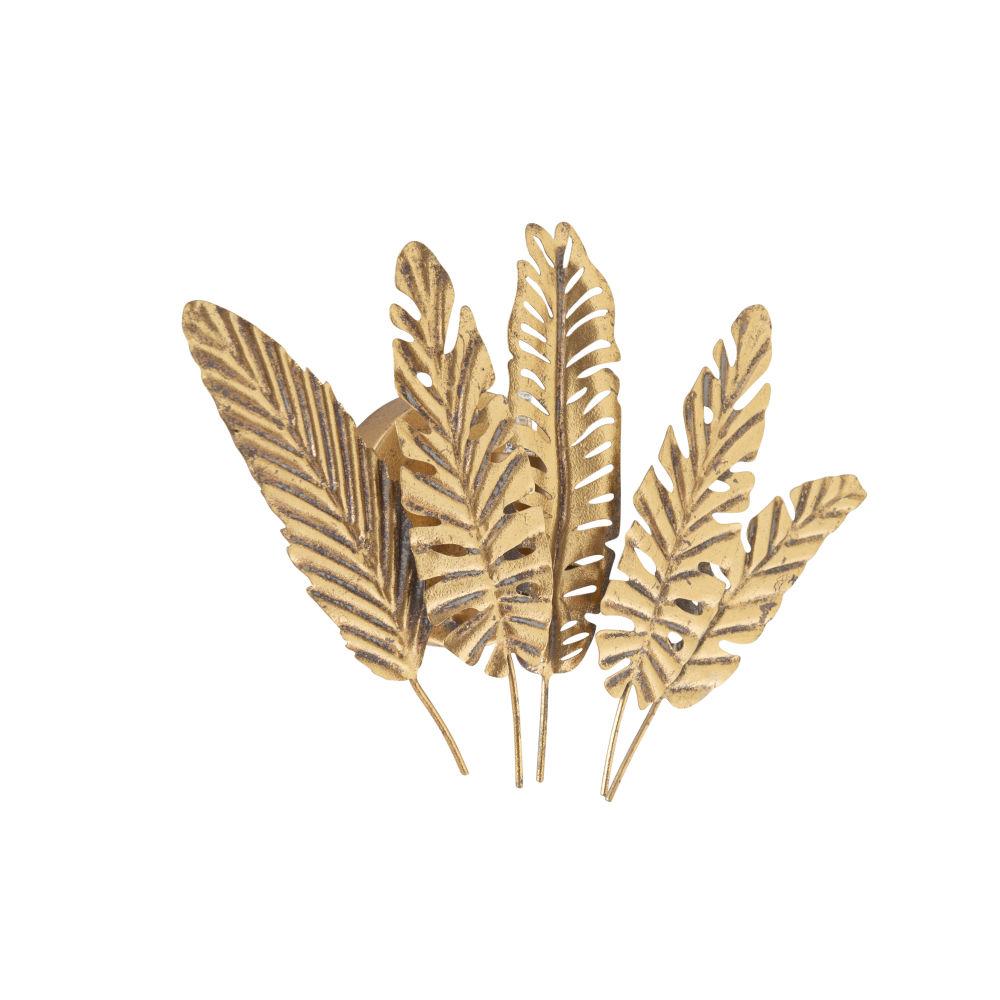 Applique feuilles en métal doré
