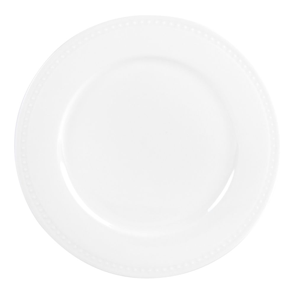 Assiette à dessert en grès blanc