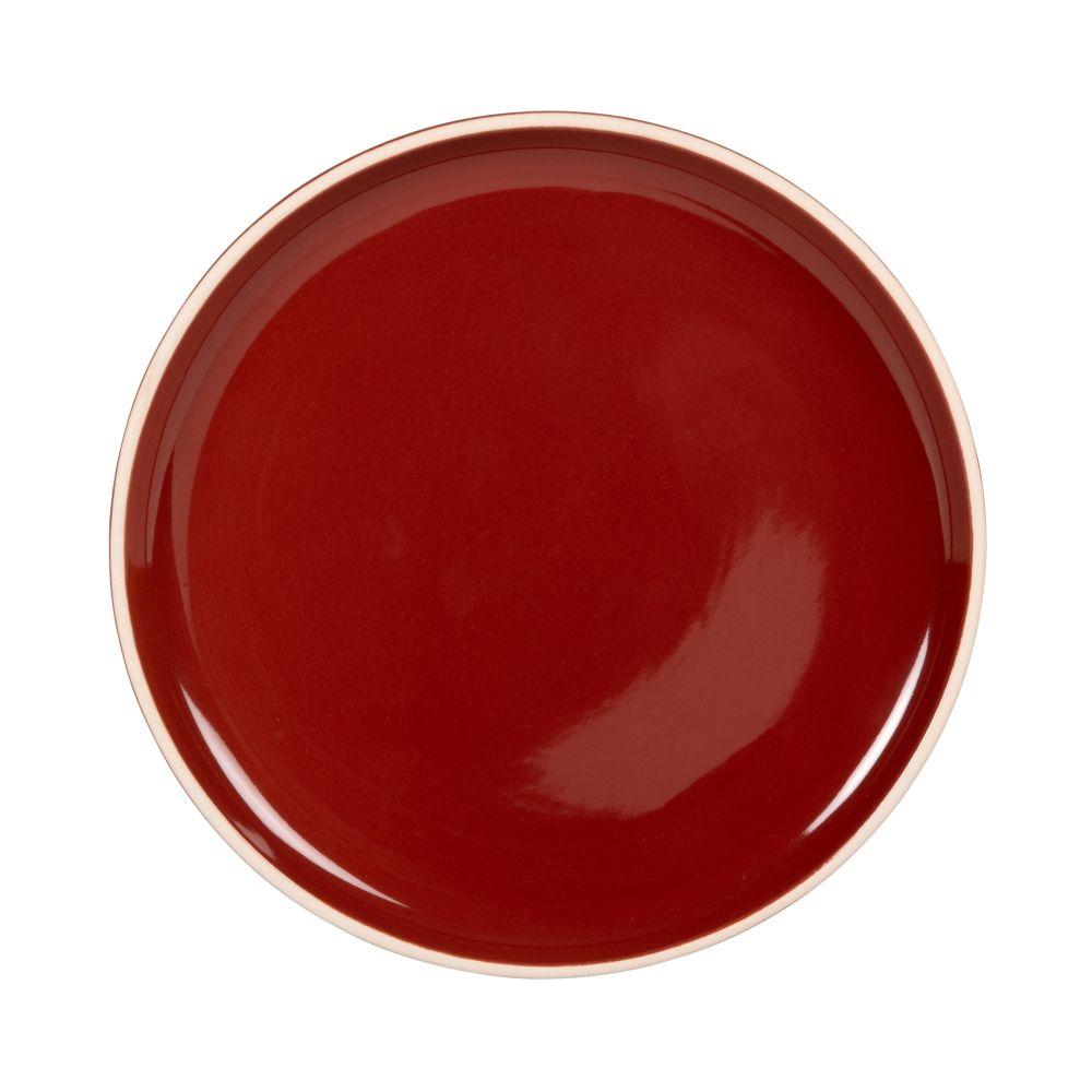 Assiette à dessert en grès rouge (photo)