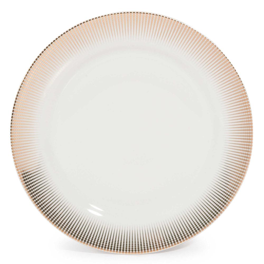 Assiette plate en porcelaine D 27 cm