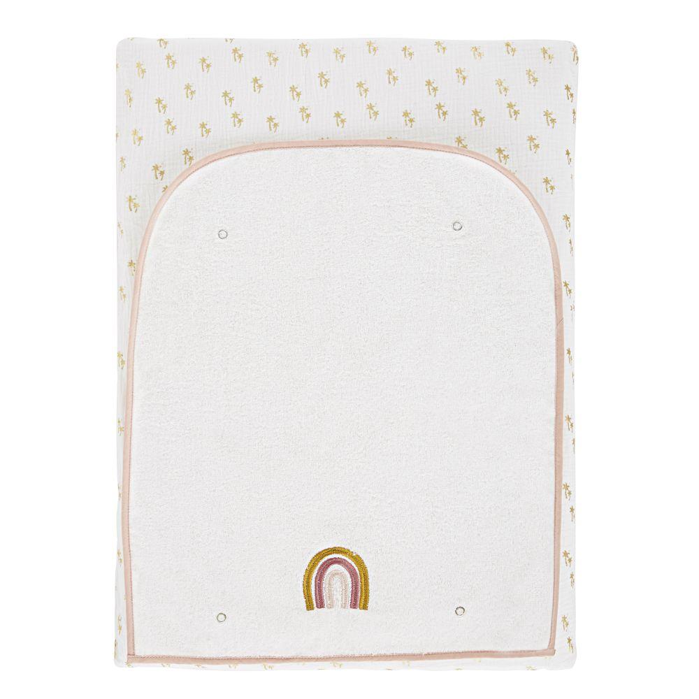 Baby-Wickelauflage, gelb, rosa, weiß und gold