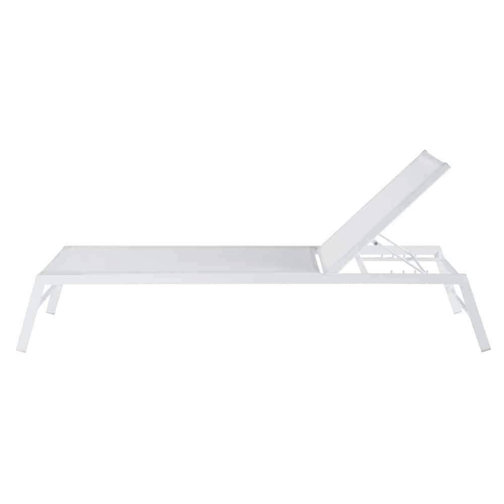 Bain de soleil en aluminium blanc