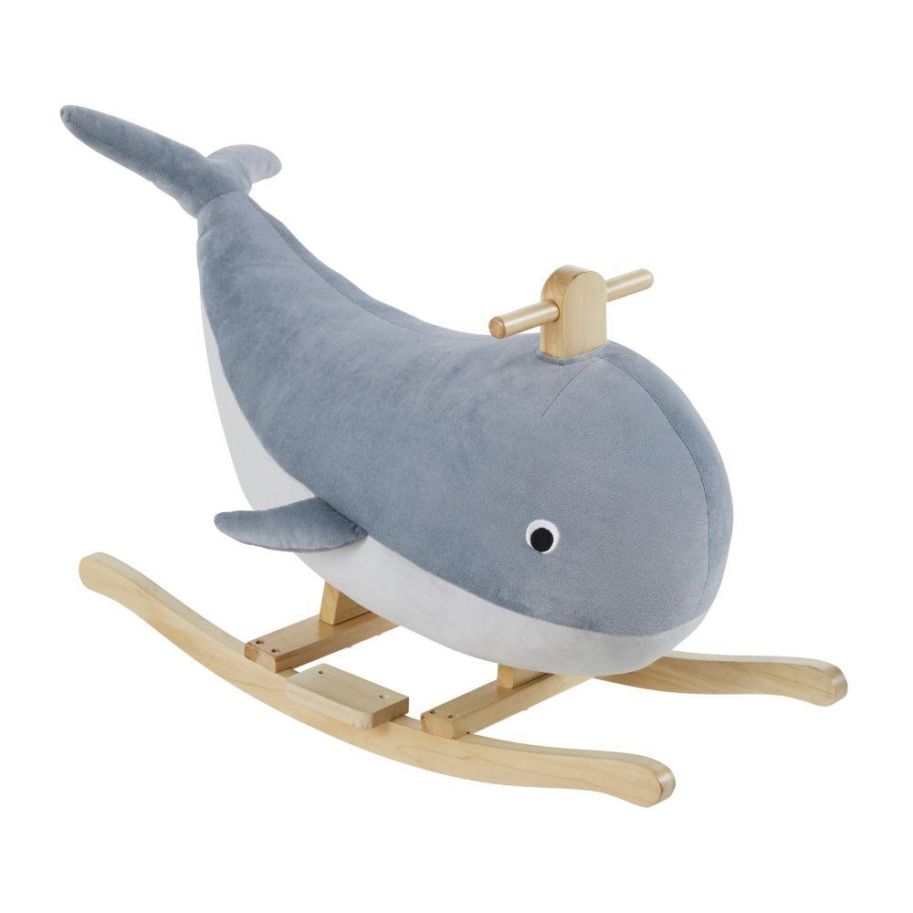 Baleine à bascule bleu clair
