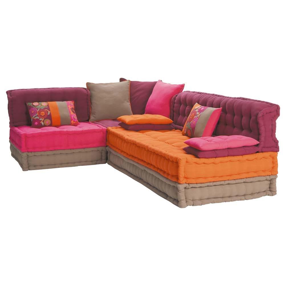 Canapé d'angle 6 places Confort