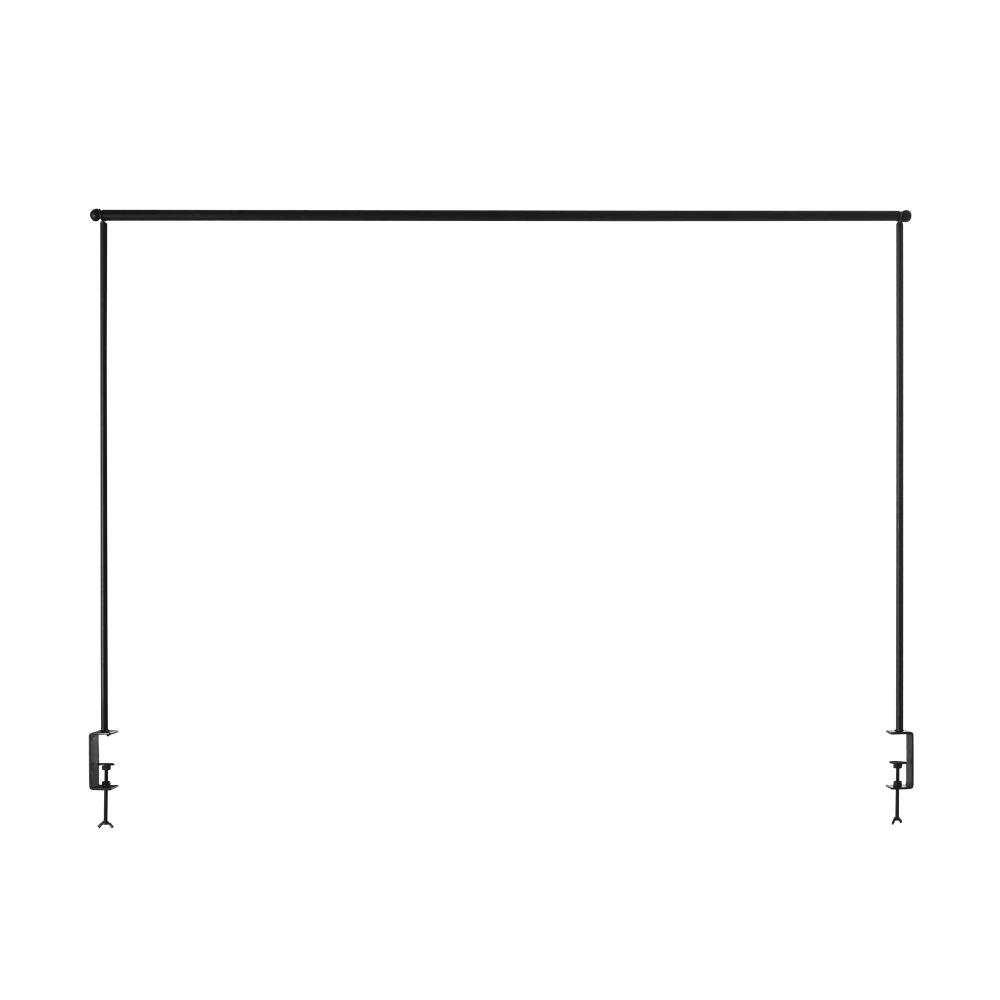Barre de table extensible en métal noir L140/250