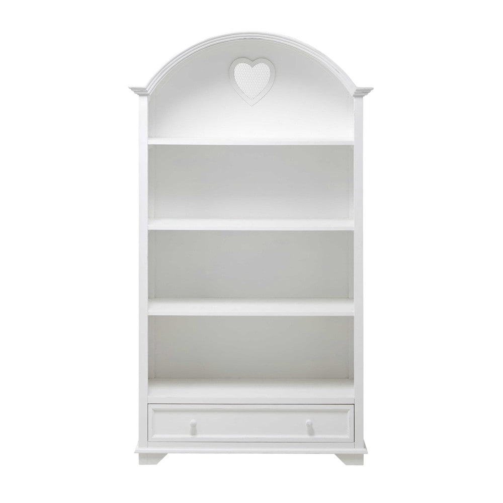 Bibliothèque 1 tiroir blanche