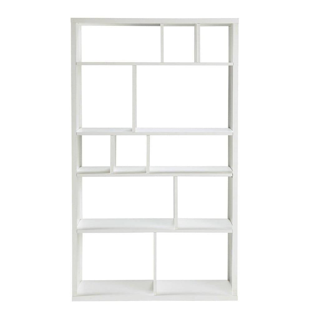 Bibliothèque déstructurée blanche