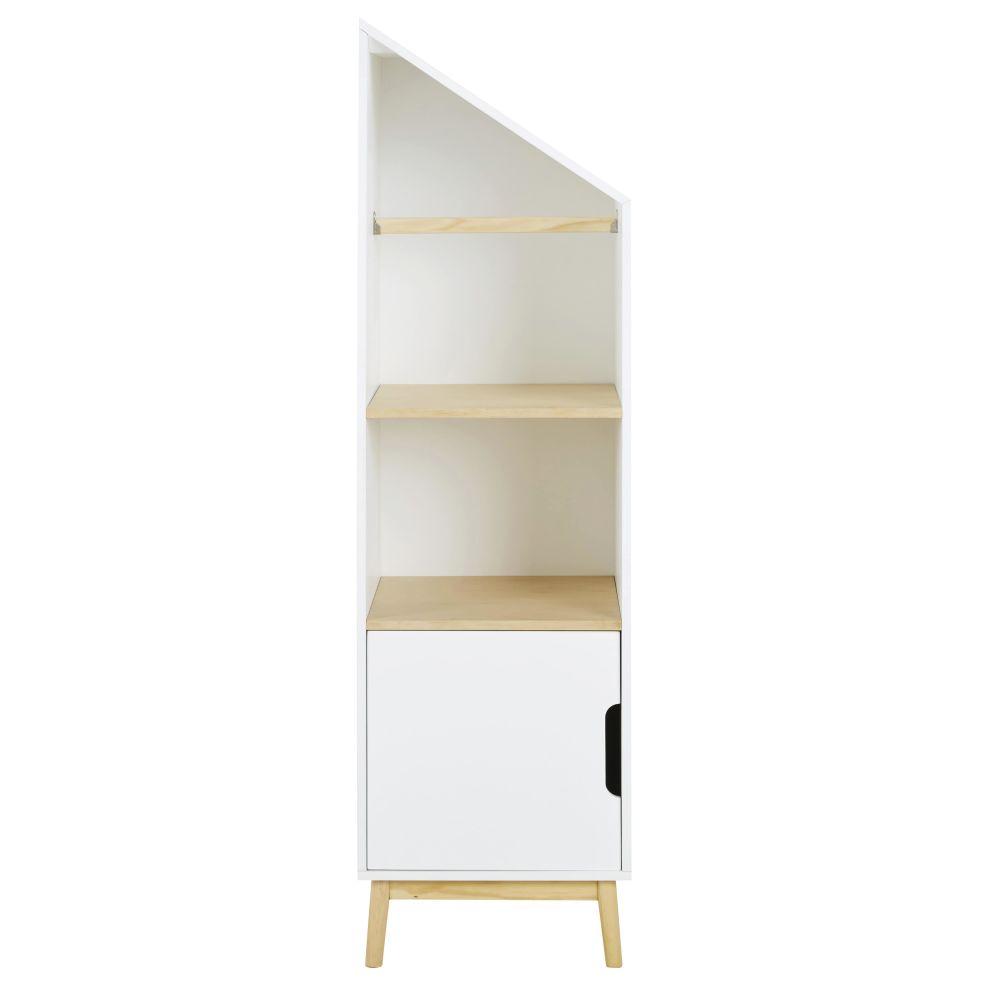 Bibliothèque enfant maison modulable côté gauche 1 porte blanche