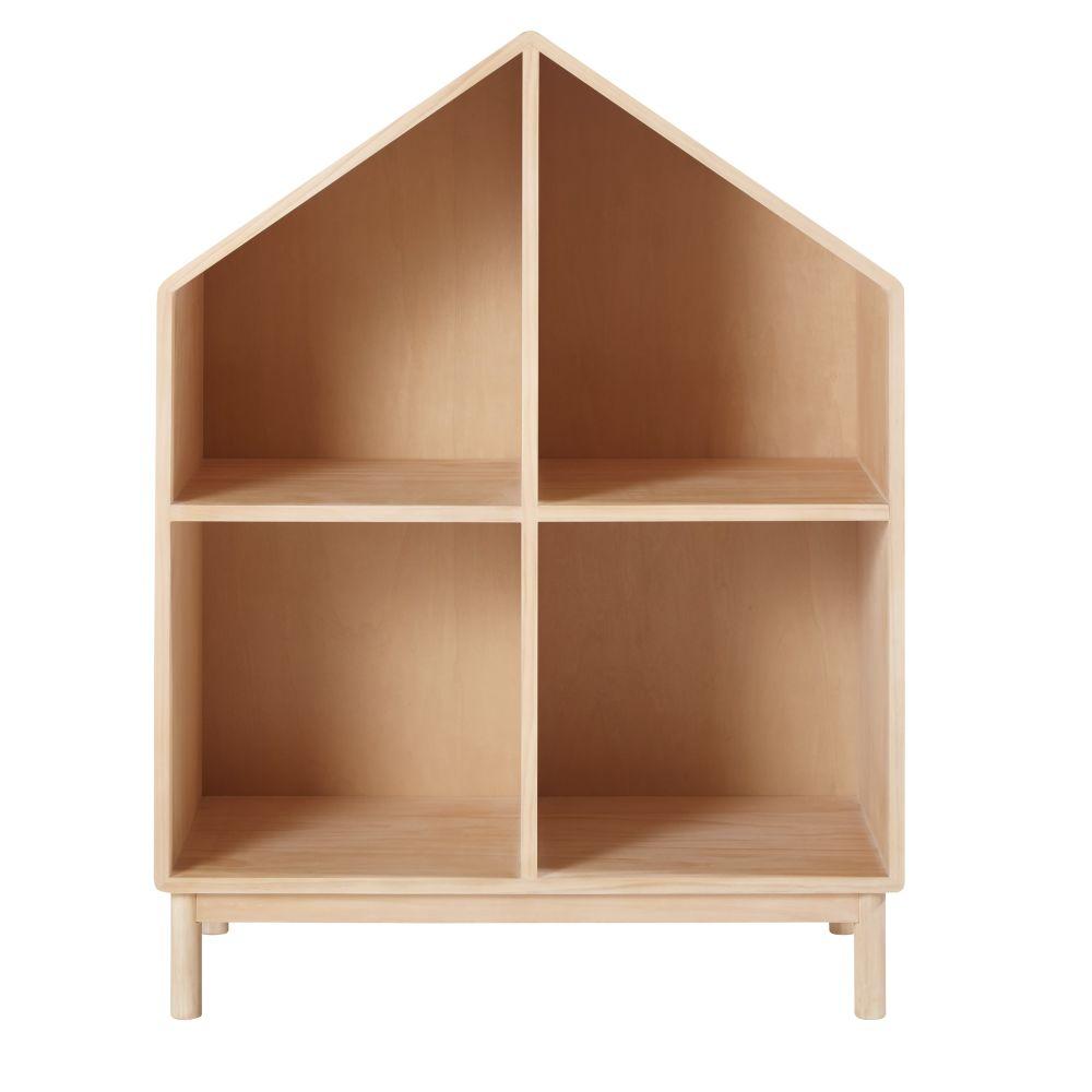 Bibliothèque maison enfant en pin
