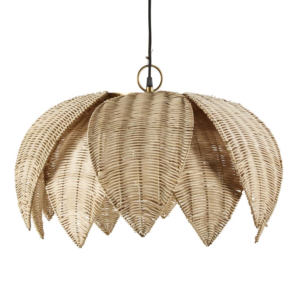 Bloemvormige Hanglamp Van Plantaardige Gevlochten Vezels