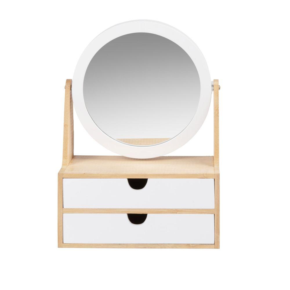 Boîte à bijoux en bambou avec miroir