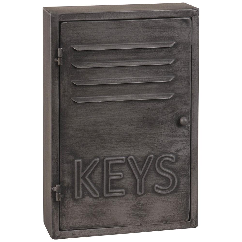 Boîte à clés indus en métal gris