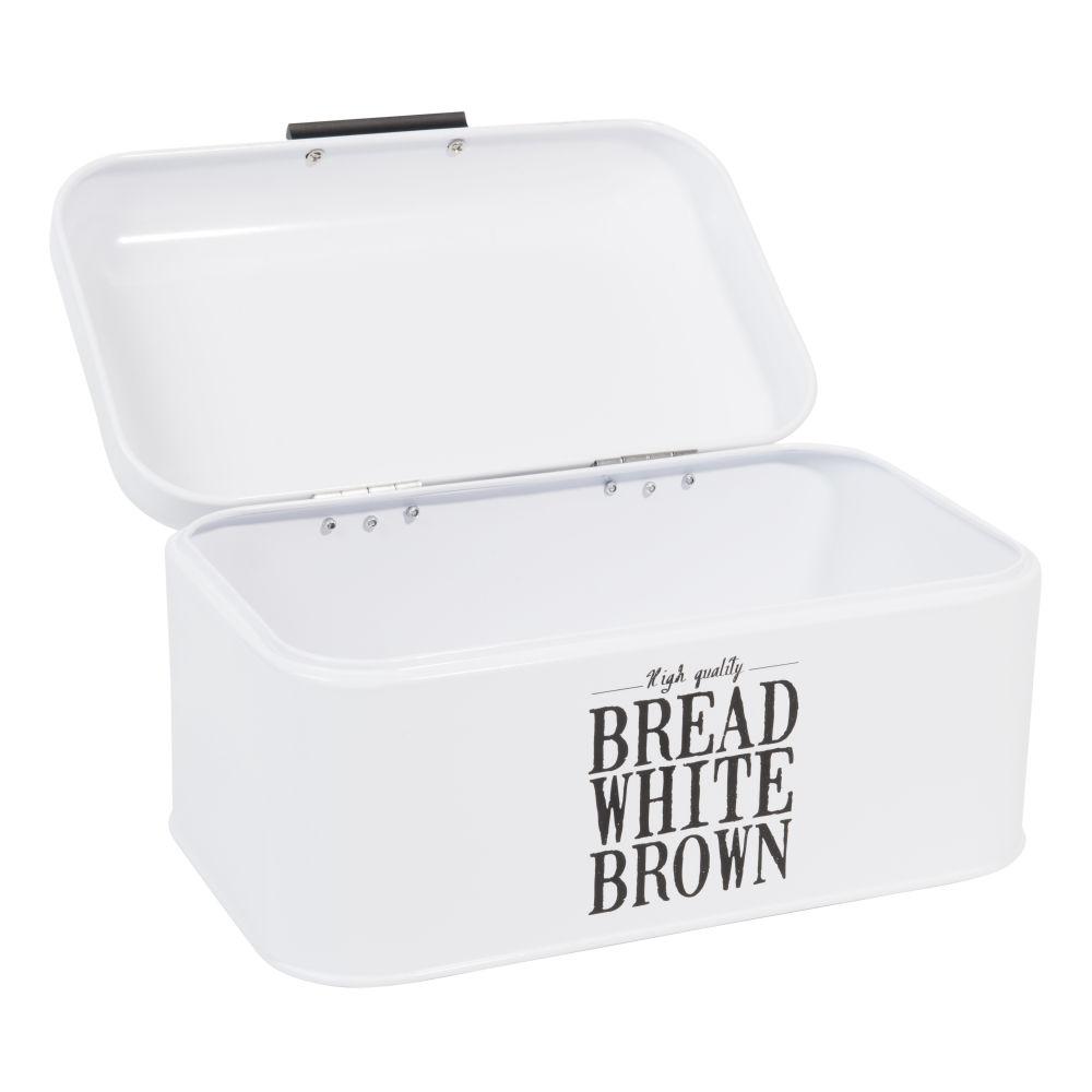 Boîte à pain en métal blanche