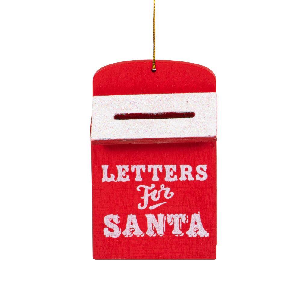Boîte aux lettres du Père Noël rouge et blanche