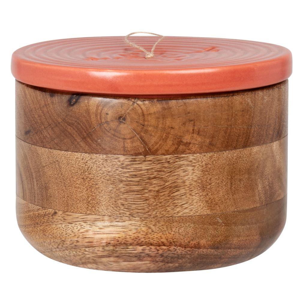 Boîte en manguier et céramique terracotta