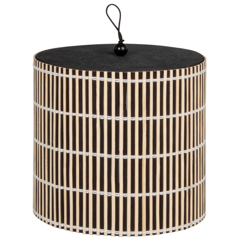 Boîte en peuplier noir et bambou