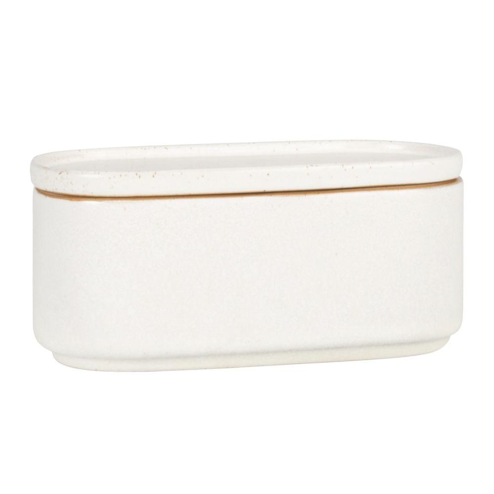 Boîte en porcelaine beige