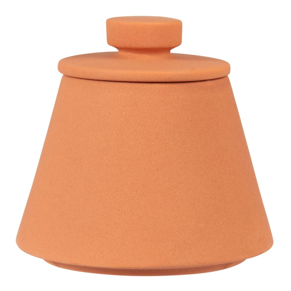 Boîte en porcelaine terracotta