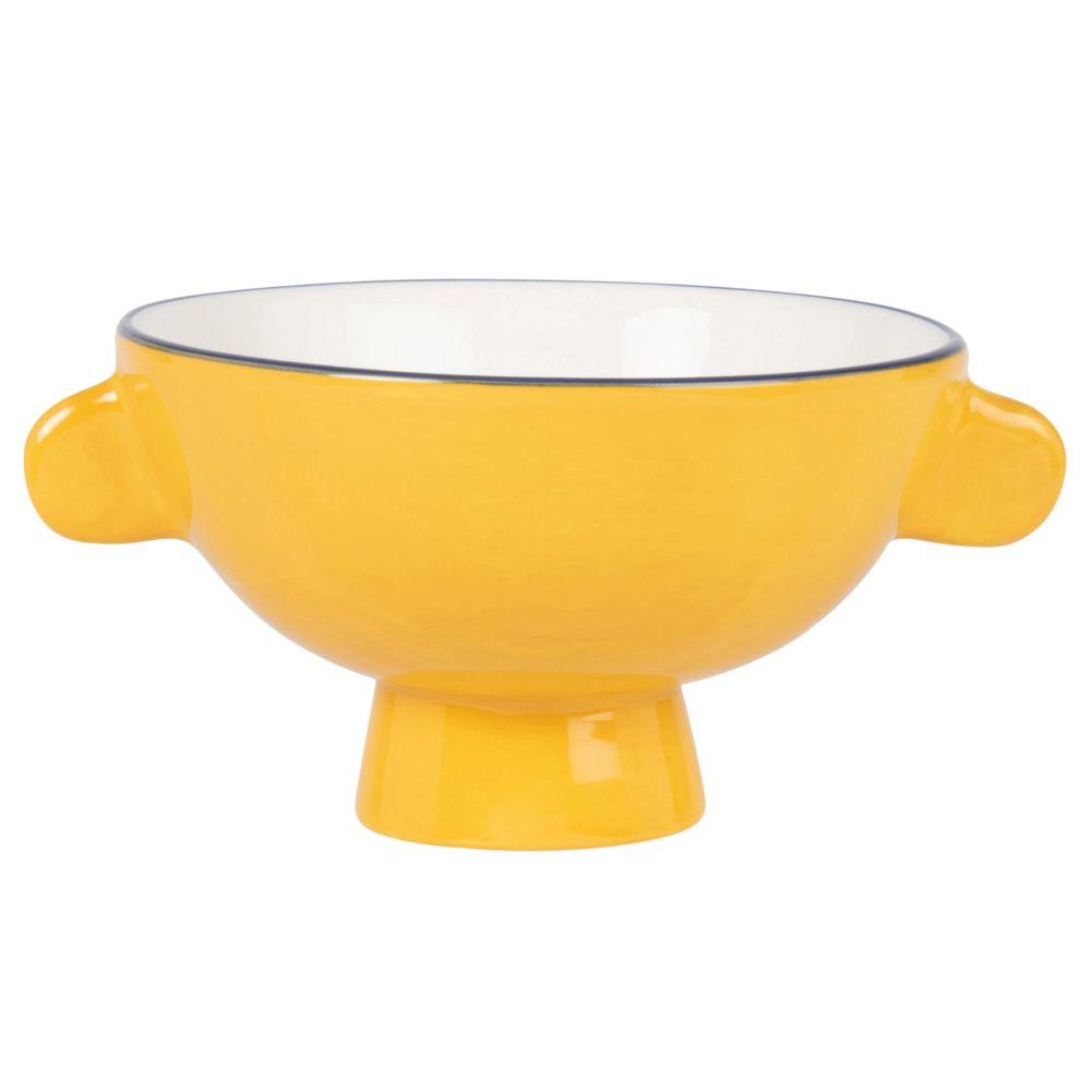 Bol en faïence jaune