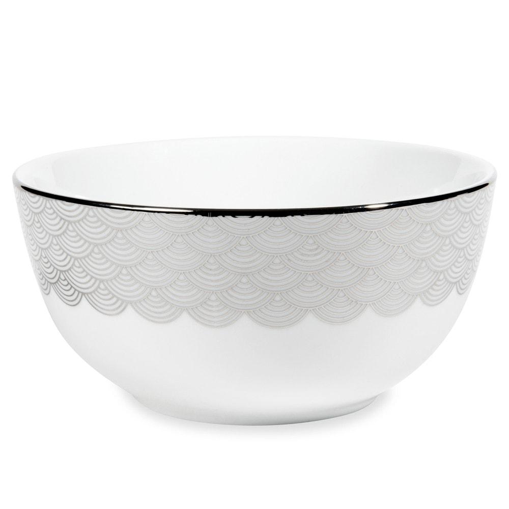 Bol motifs vagues en porcelaine