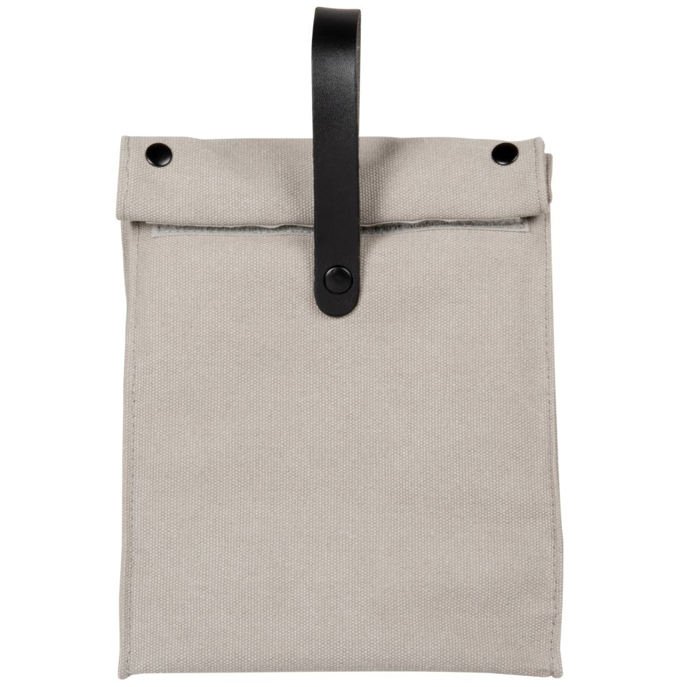 Bolsa térmica de aluminio gris y negra