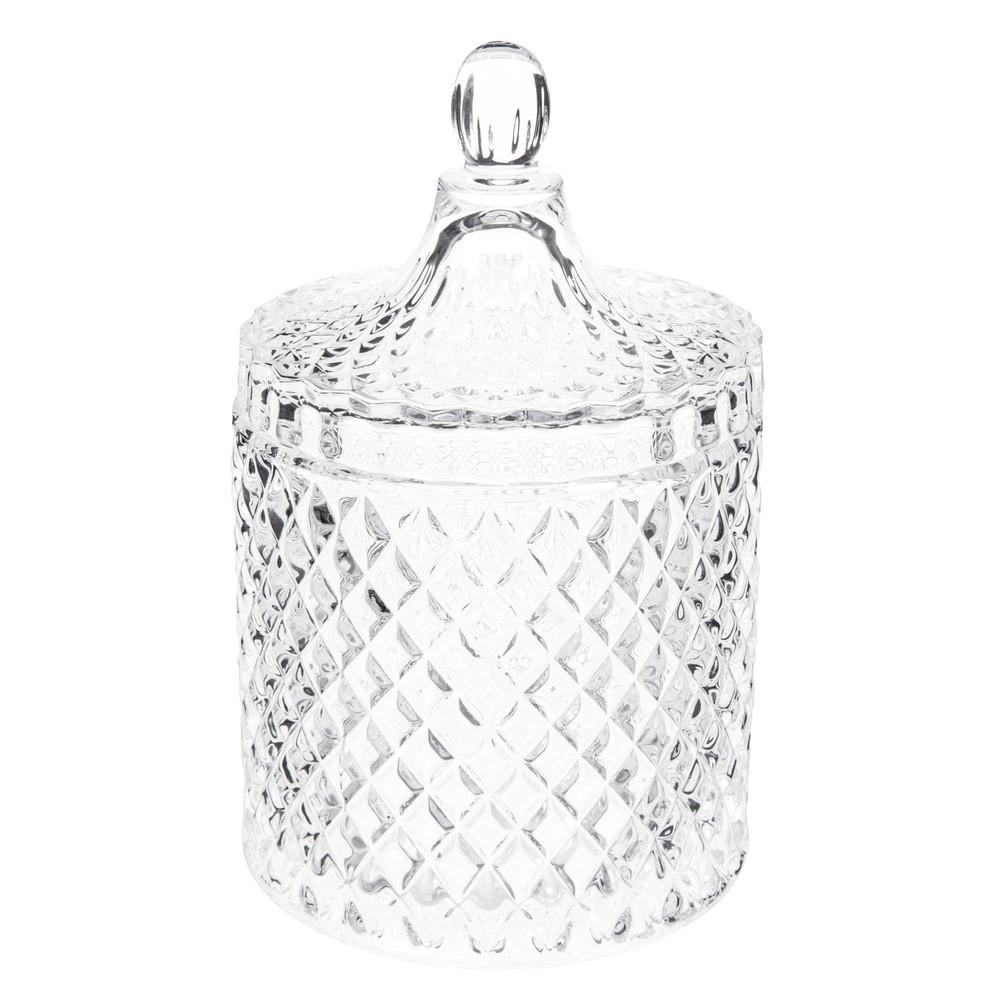 Bonbonnière en verre H 18 cm