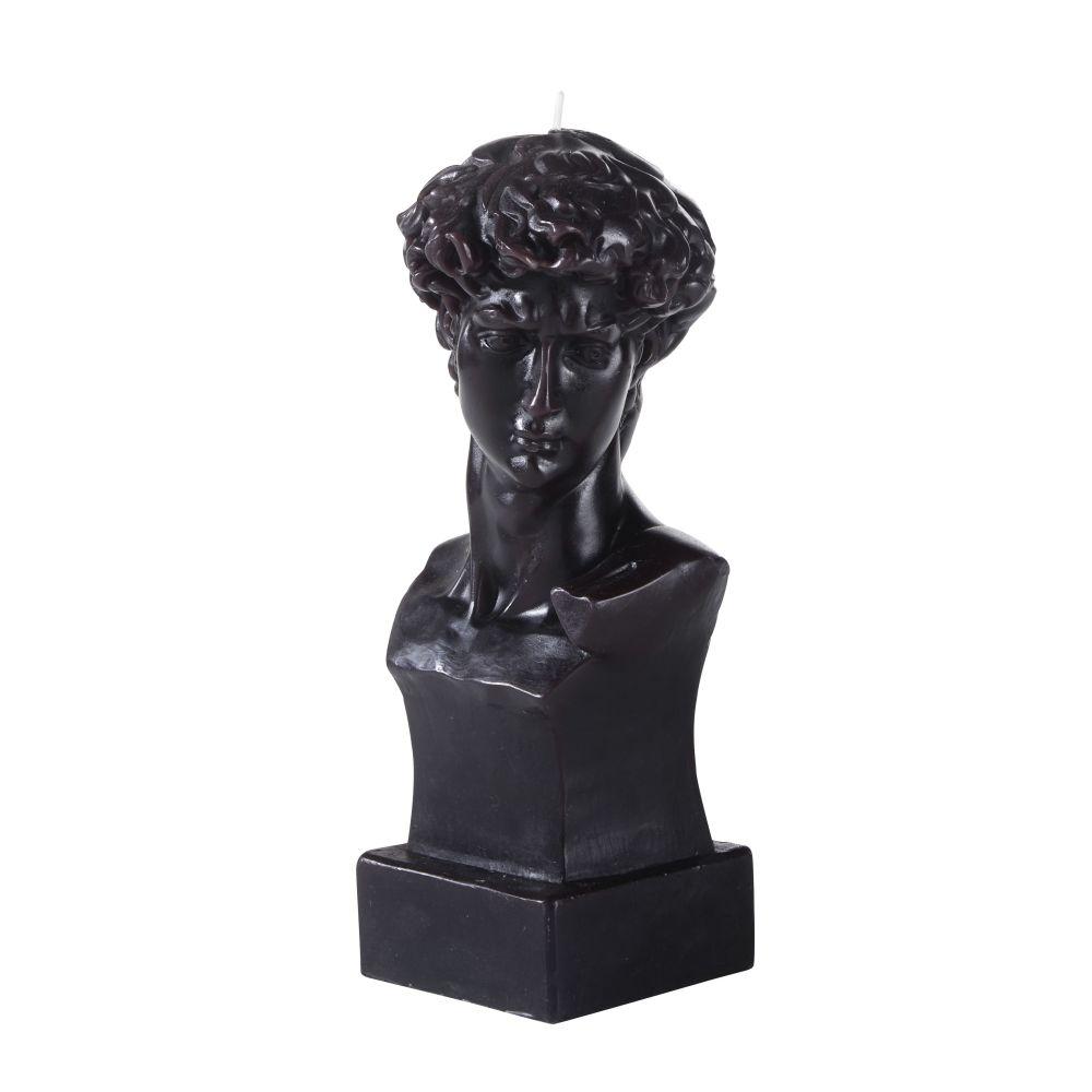 Bougie buste en cire noire H23